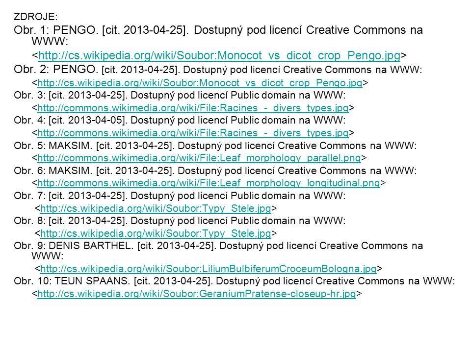 ZDROJE: Obr. 1: PENGO. [cit. 2013-04-25]. Dostupný pod licencí Creative Commons na WWW: